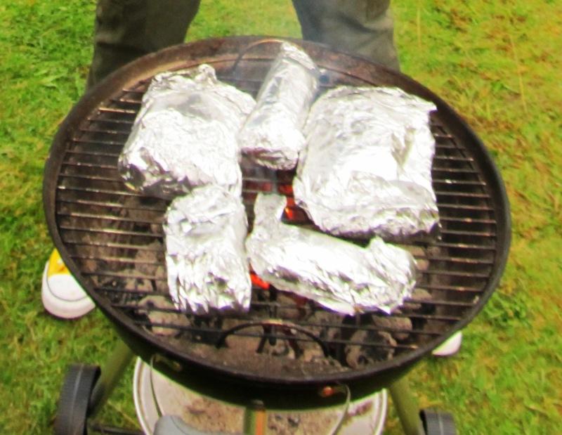 Grilled mackerel and lyr