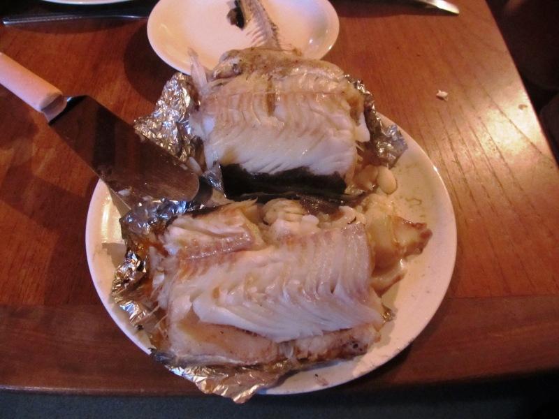 Grilled lyr and mackerel