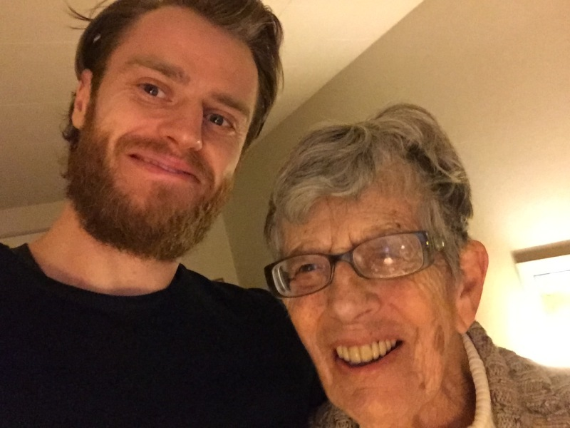 Selfie with my host and grandma.
